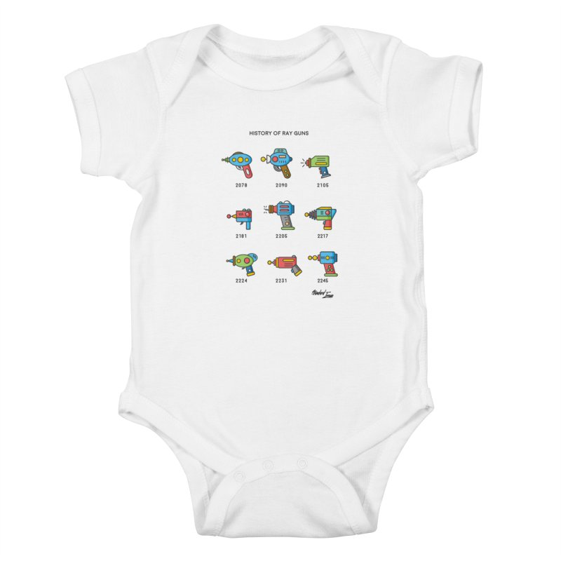 History of Ray Guns Kids Baby Bodysuit by Standard Issue Clothing