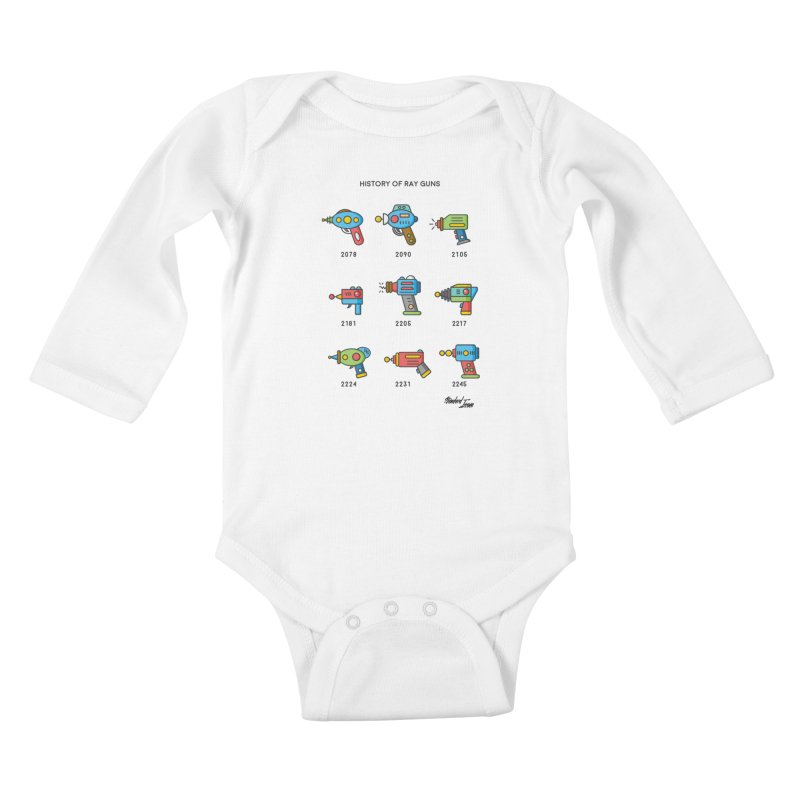 History of Ray Guns Kids Baby Longsleeve Bodysuit by Standard Issue Clothing