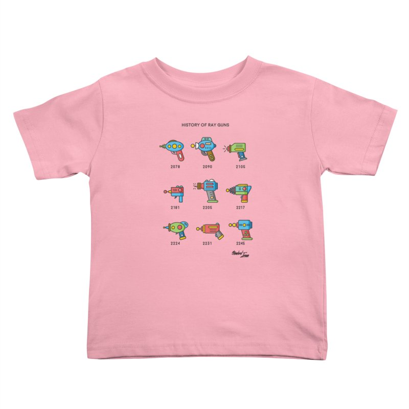 History of Ray Guns Kids Toddler T-Shirt by Standard Issue Clothing