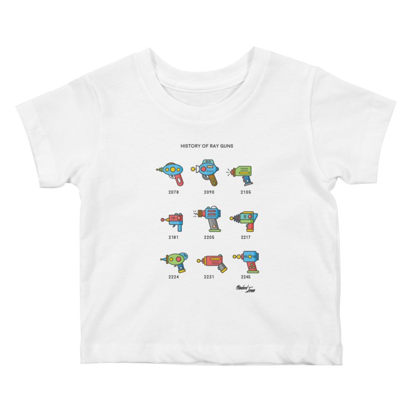 History of Ray Guns Kids Baby T-Shirt by Standard Issue Clothing