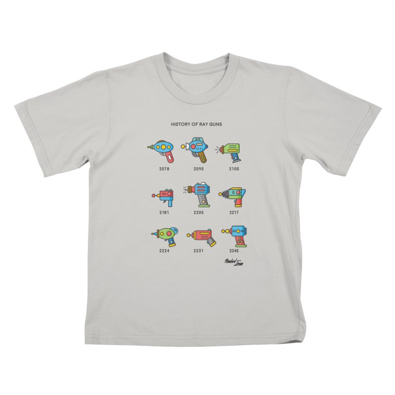 History of Ray Guns Kids T-shirt by Standard Issue Clothing