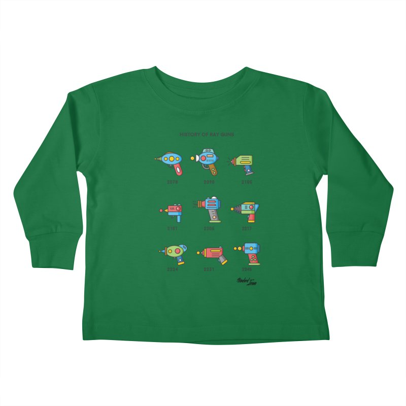 History of Ray Guns Kids Toddler Longsleeve T-Shirt by Standard Issue Clothing