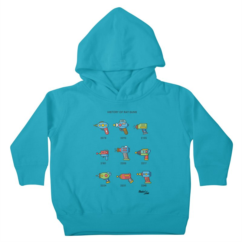 History of Ray Guns Kids Toddler Pullover Hoody by Standard Issue Clothing