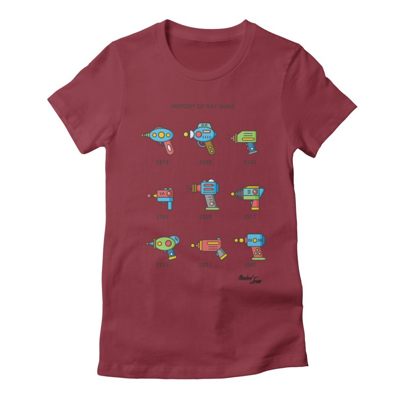 History of Ray Guns Women's Fitted T-Shirt by Standard Issue Clothing