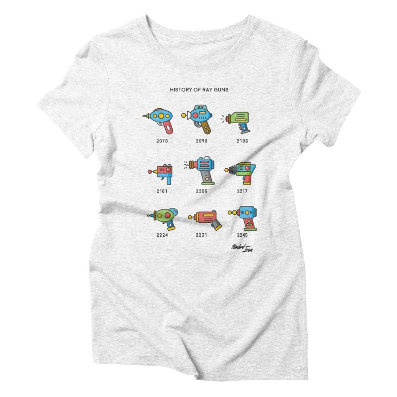 History of Ray Guns Women's Triblend T-shirt by Standard Issue Clothing