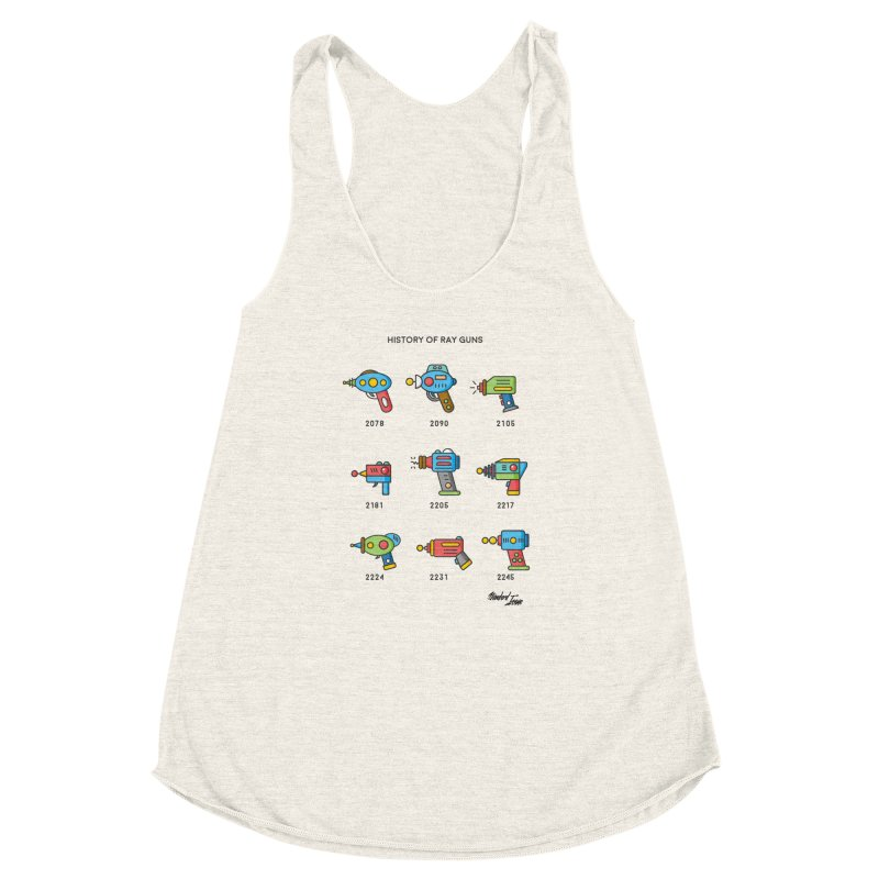 History of Ray Guns Women's Racerback Triblend Tank by Standard Issue Clothing