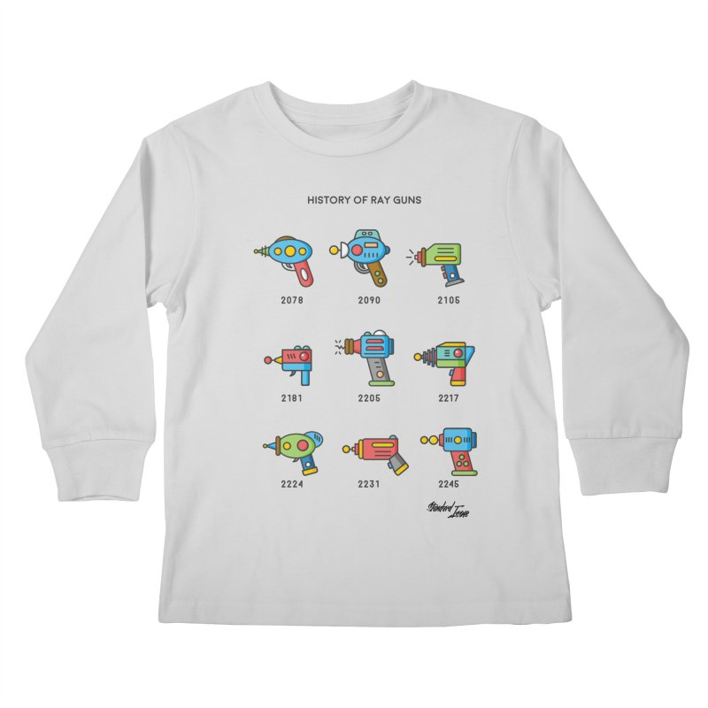 History of Ray Guns Kids Longsleeve T-Shirt by Standard Issue Clothing
