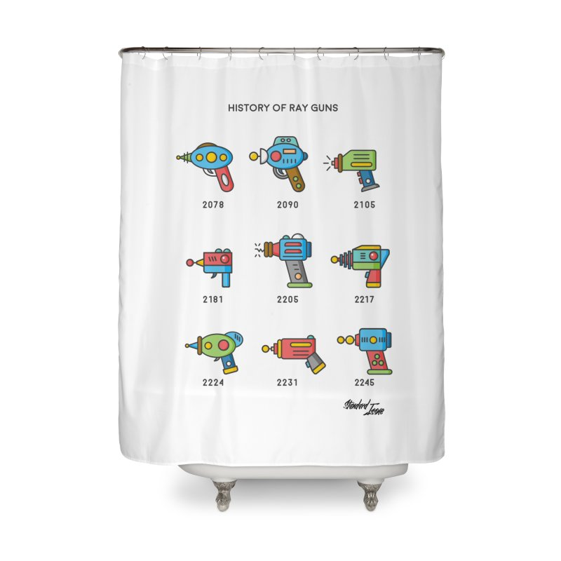 History of Ray Guns Home Shower Curtain by Standard Issue Clothing