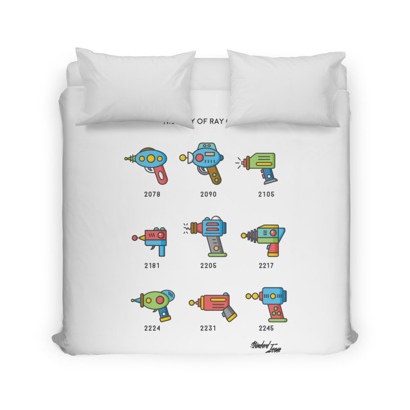 History of Ray Guns Home Duvet by Standard Issue Clothing