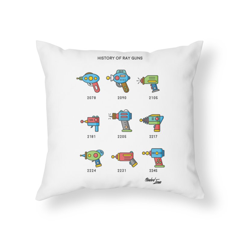 History of Ray Guns in Throw Pillow by Standard Issue Clothing