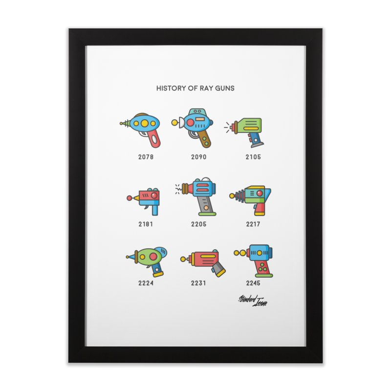 History of Ray Guns Home Framed Fine Art Print by Standard Issue Clothing