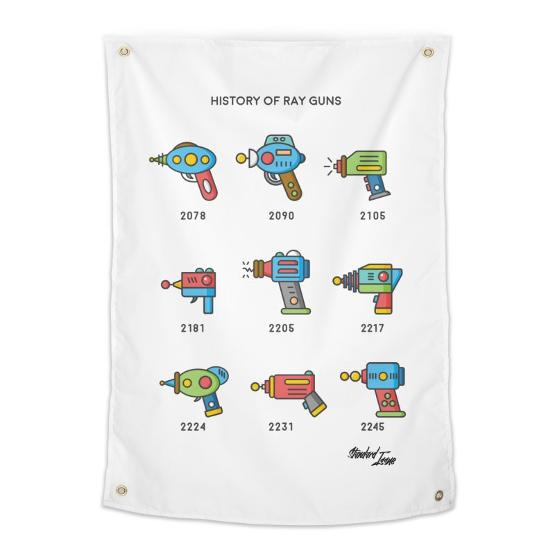 History of Ray Guns Home Tapestry by Standard Issue Clothing