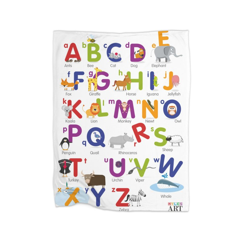 Animal Alphabet Home Blanket by Standard Issue Clothing