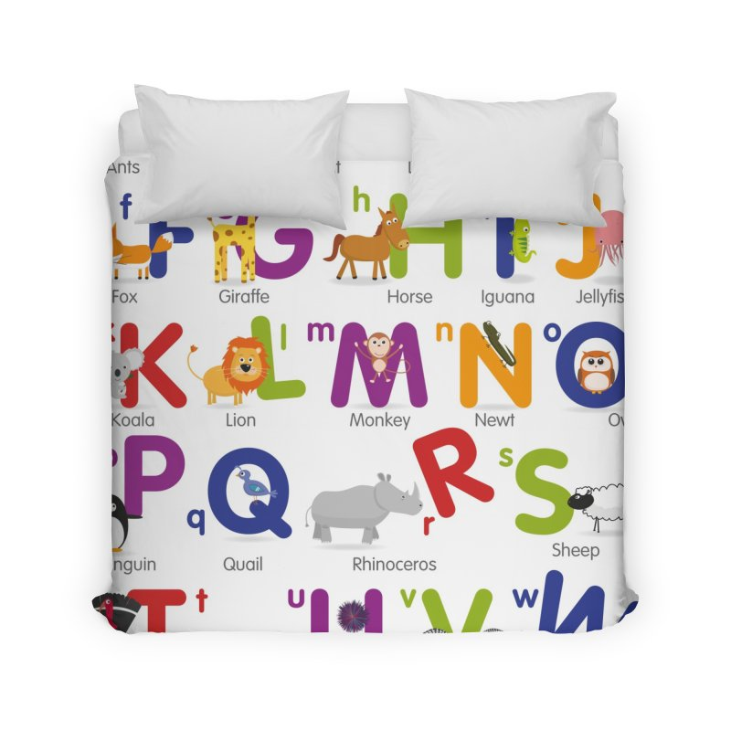 Animal Alphabet Home Duvet by Standard Issue Clothing