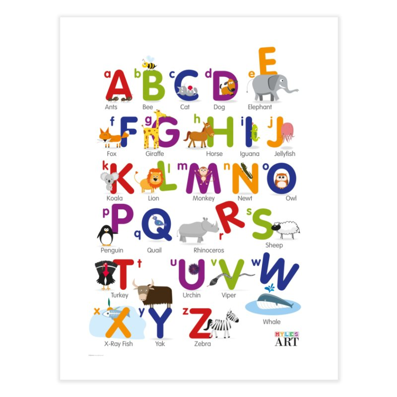 Animal Alphabet Home Fine Art Print by Standard Issue Clothing