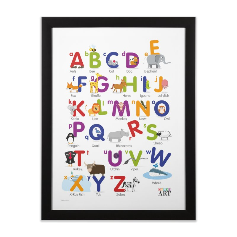 Animal Alphabet Home Framed Fine Art Print by Standard Issue Clothing