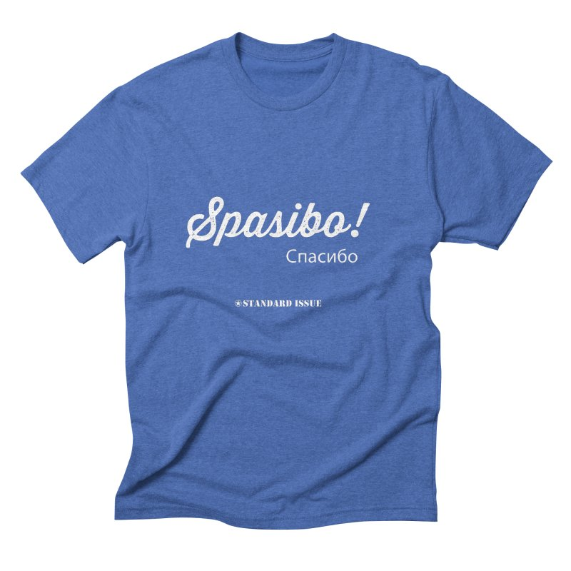 Spasibo! Men's Triblend T-shirt by Standard Issue Clothing