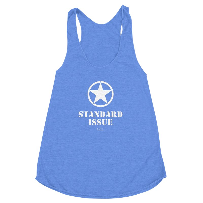 The Original Standard Issue Women's Racerback Triblend Tank by Standard Issue Clothing
