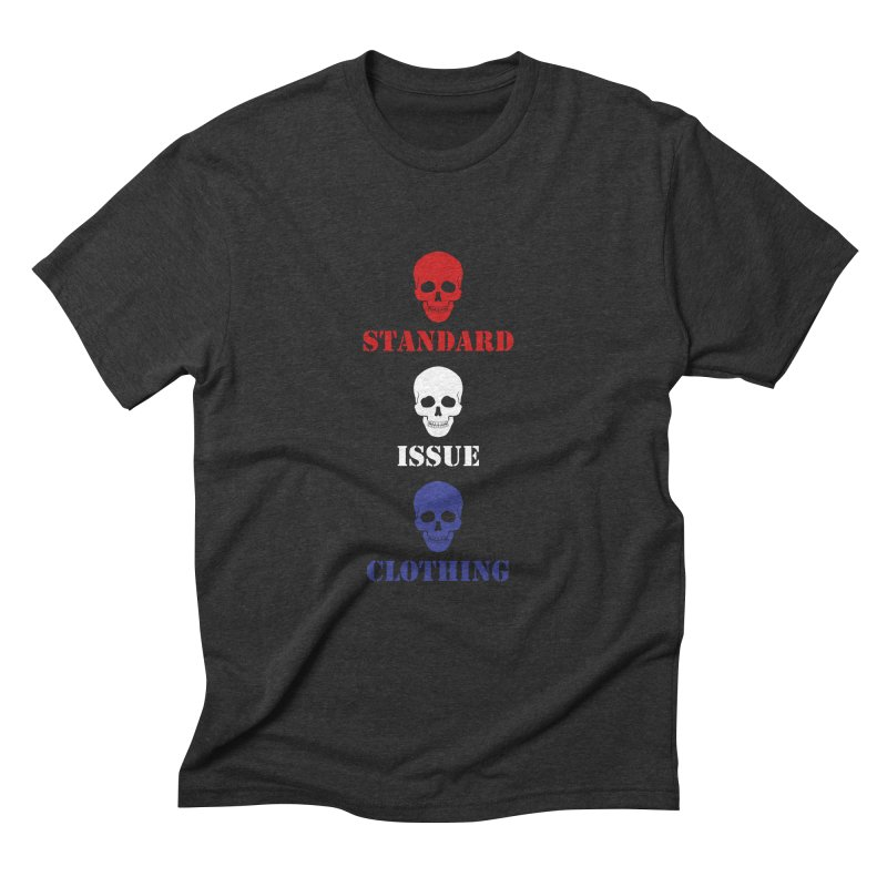 SKULLS in Men's Triblend T-Shirt Heather Onyx by Standard Issue Clothing
