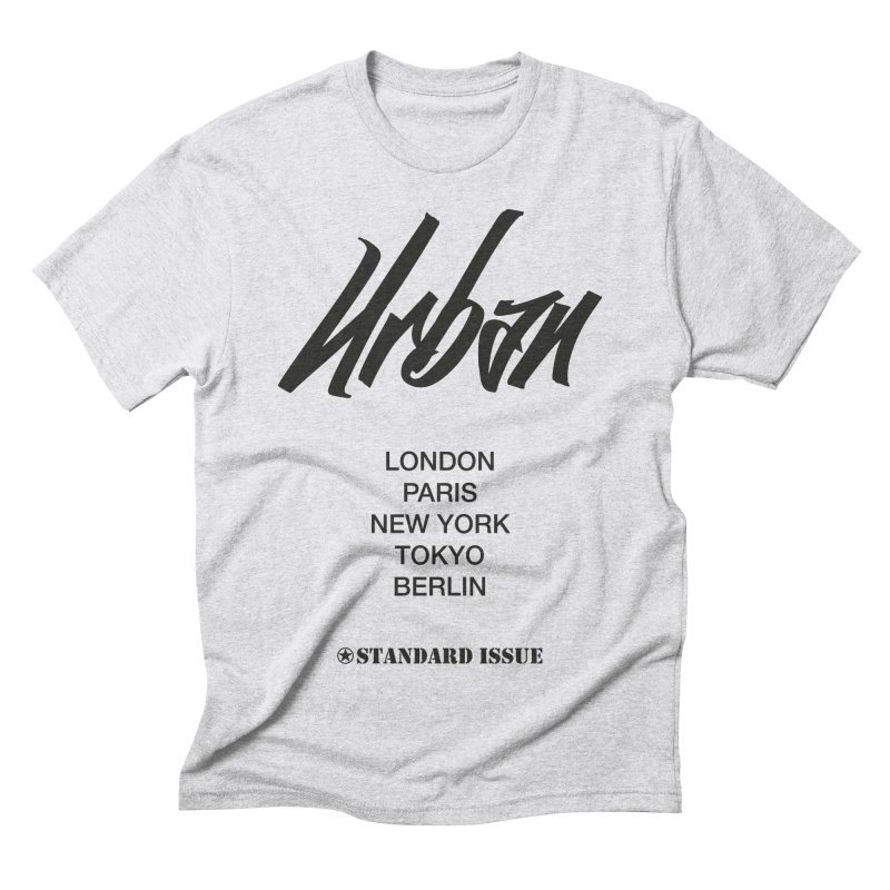Urban in Men's Triblend T-shirt Heather White by Standard Issue Clothing