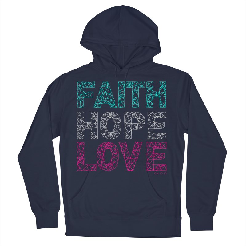 Faith Hope Love Men's Pullover Hoody by Stand Forgiven ✝ Bible-inspired designer brand