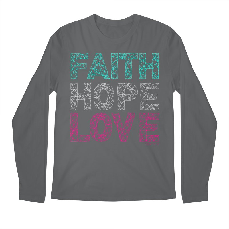 Faith Hope Love Men's Longsleeve T-Shirt by Stand Forgiven ✝ Bible-inspired designer brand
