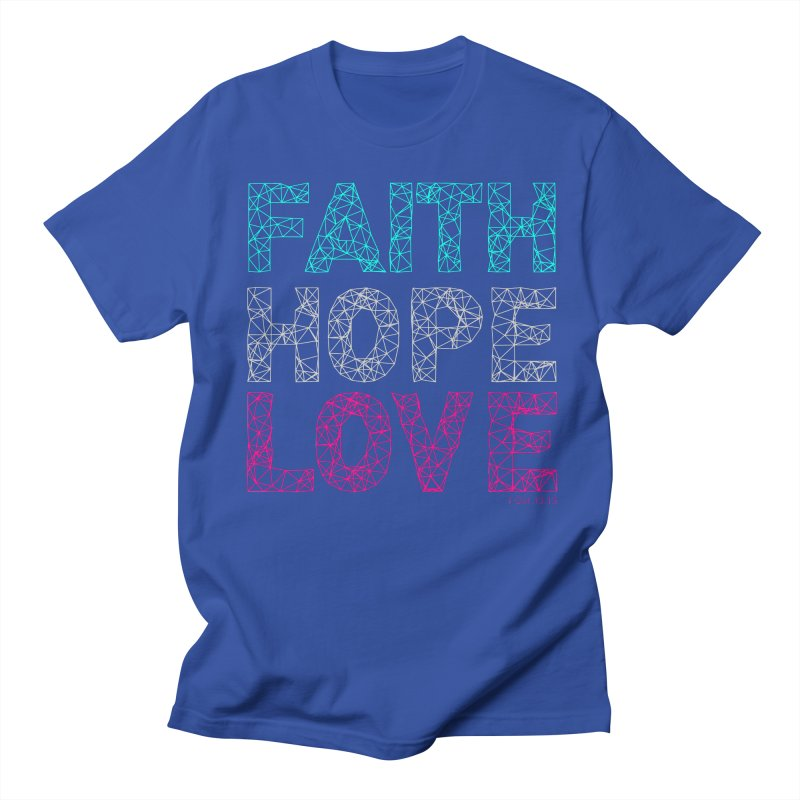 Faith Hope Love Men's T-Shirt by Stand Forgiven ✝ Bible-inspired designer brand