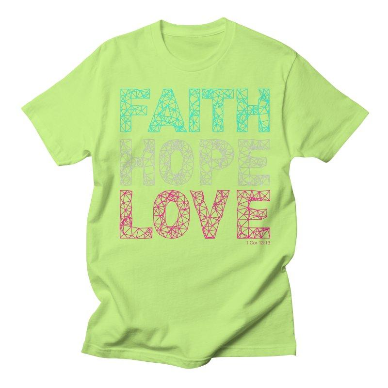 Faith Hope Love Men's T-Shirt by Stand Forgiven ✝ Bible-inspired designer brand