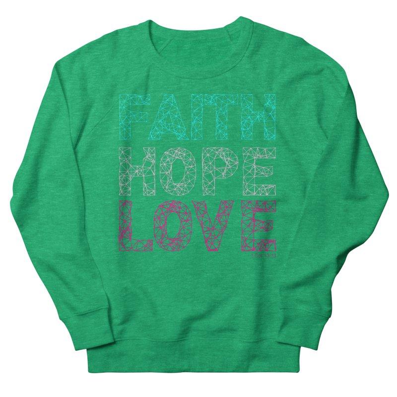 Faith Hope Love Men's Sweatshirt by Stand Forgiven ✝ Bible-inspired designer brand
