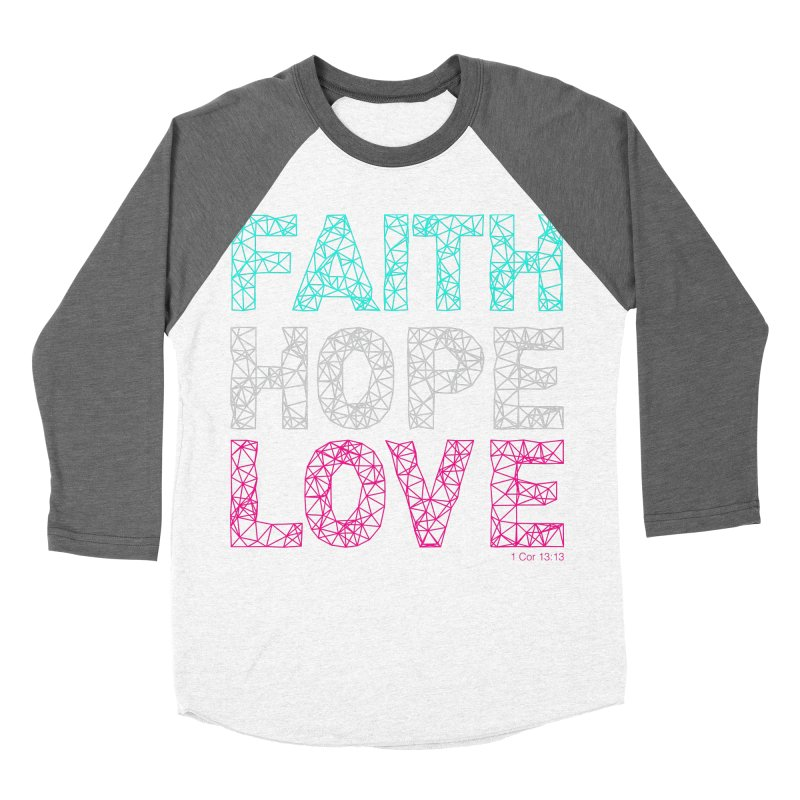 Faith Hope Love Women's Longsleeve T-Shirt by Stand Forgiven ✝ Bible-inspired designer brand