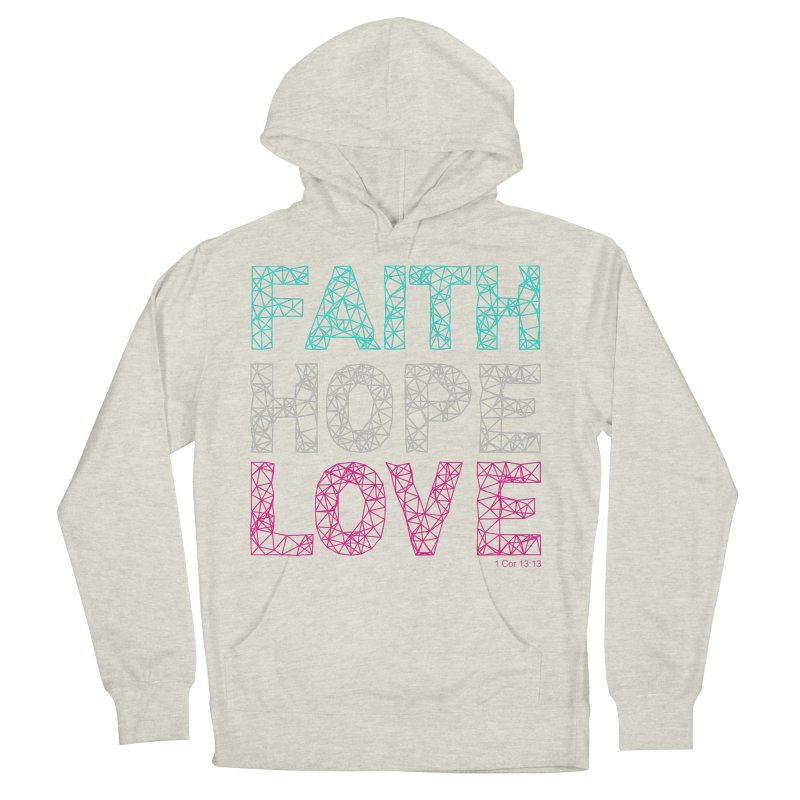 Faith Hope Love Women's Pullover Hoody by Stand Forgiven ✝ Bible-inspired designer brand