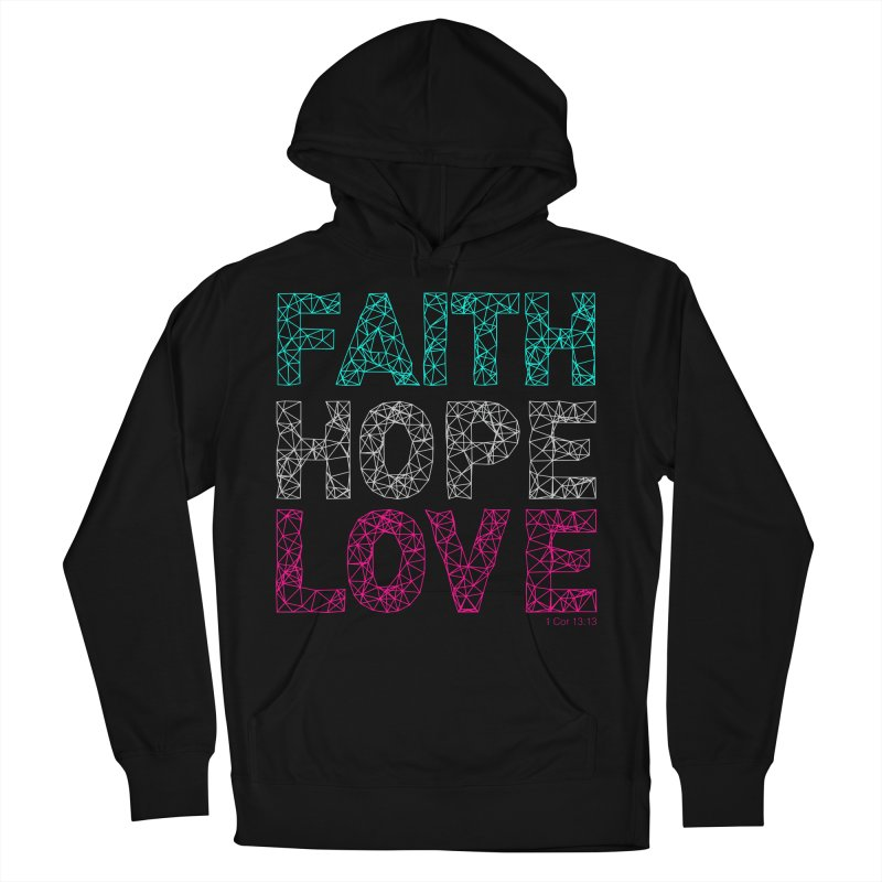 Faith Hope Love Women's French Terry Pullover Hoody by Stand Forgiven ✝ Bible-inspired designer brand