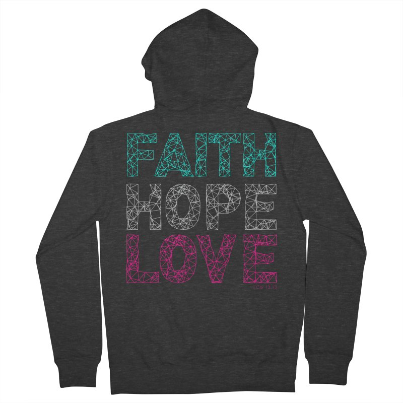 Faith Hope Love Women's Zip-Up Hoody by Stand Forgiven ✝ Bible-inspired designer brand