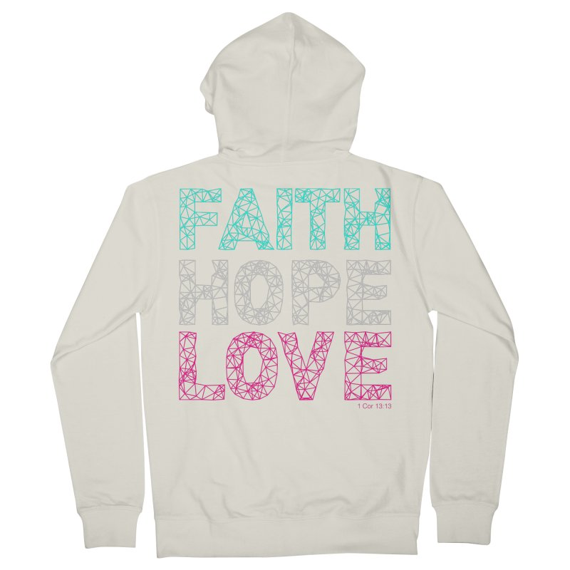 Faith Hope Love Women's French Terry Zip-Up Hoody by Stand Forgiven ✝ Bible-inspired designer brand