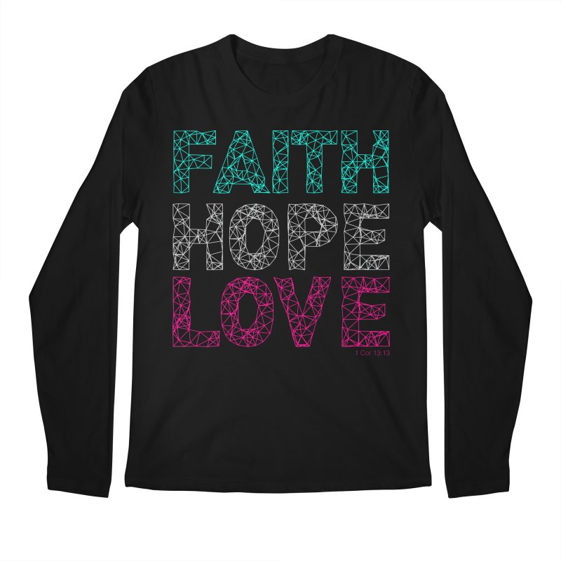 Faith Hope Love Men's Regular Longsleeve T-Shirt by Stand Forgiven ✝ Bible-inspired designer brand