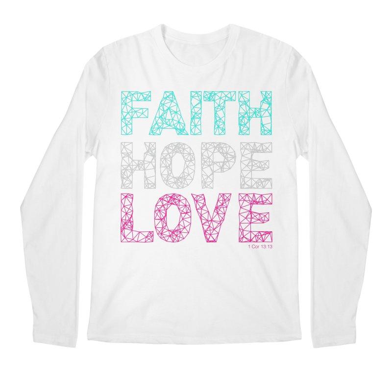 Faith Hope Love Men's Longsleeve T-Shirt by Stand Forgiven ✝ Bible-inspired designer brand