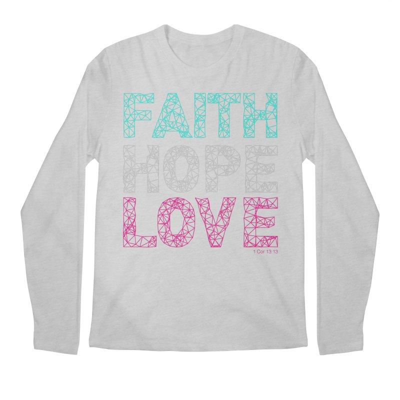 Faith Hope Love Men's Regular Longsleeve T-Shirt by Stand Forgiven ✝ Bible-inspired designer brand