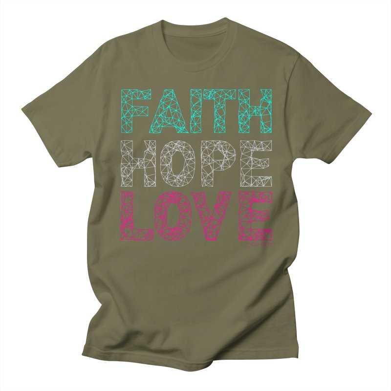 Faith Hope Love Women's Unisex T-Shirt by Stand Forgiven ✝ Bible-inspired designer brand