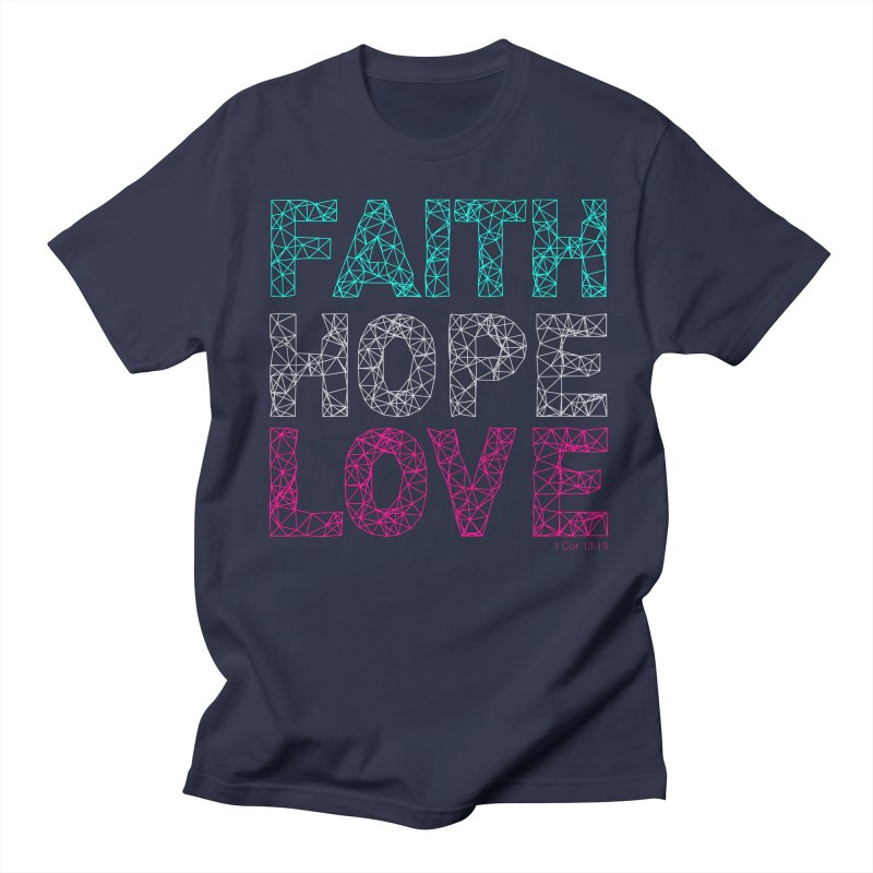 Faith Hope Love Men's Regular T-Shirt by Stand Forgiven ✝ Bible-inspired designer brand