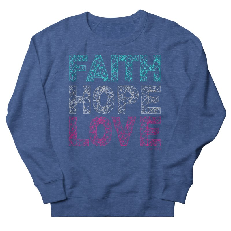 Faith Hope Love Men's French Terry Sweatshirt by Stand Forgiven ✝ Bible-inspired designer brand