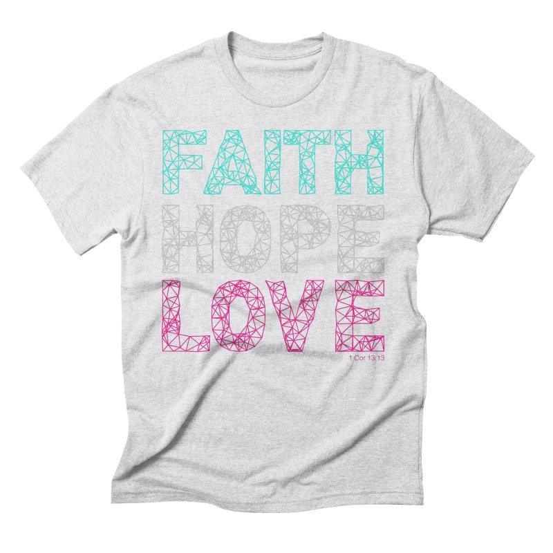 Faith Hope Love Men's Triblend T-Shirt by Stand Forgiven ✝ Bible-inspired designer brand