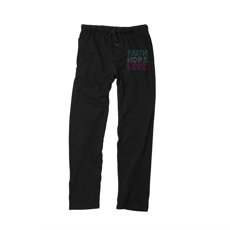 Faith Hope Love Men's Lounge Pants by Stand Forgiven ✝ Bible-inspired designer brand
