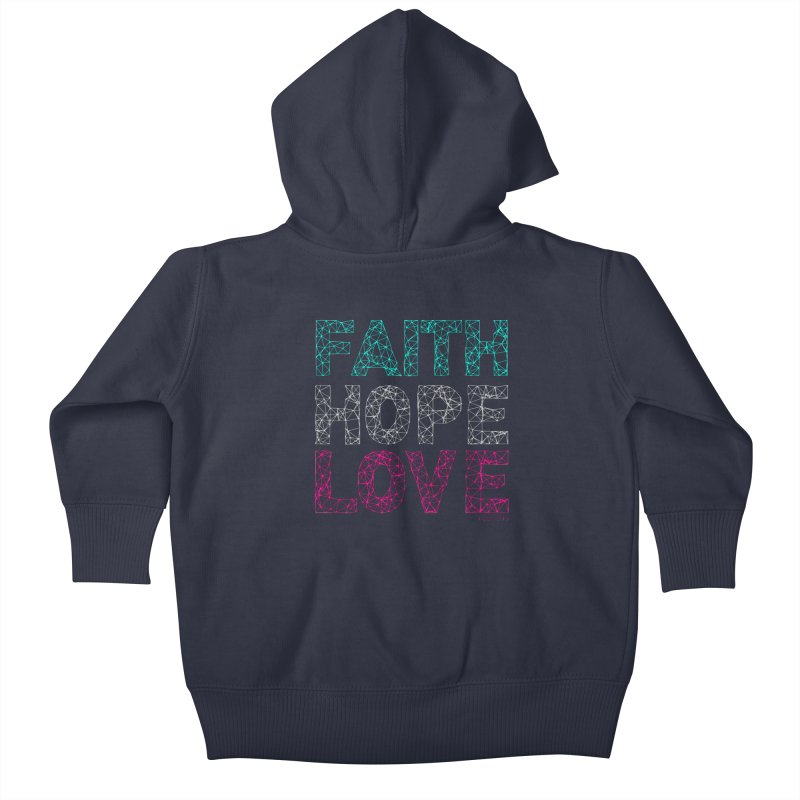 Faith Hope Love Kids Baby Zip-Up Hoody by Stand Forgiven ✝ Bible-inspired designer brand