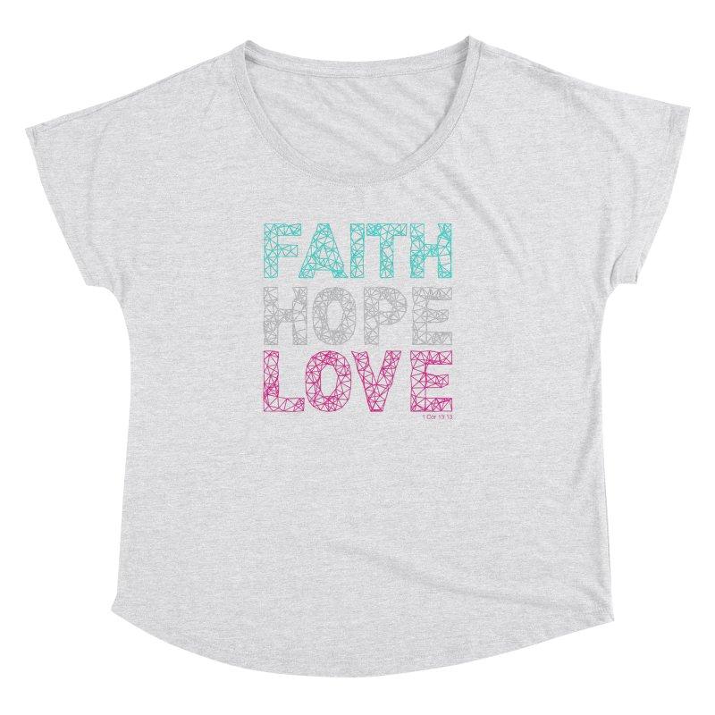 Faith Hope Love Women's Dolman by Stand Forgiven ✝ Bible-inspired designer brand