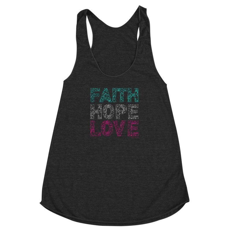Faith Hope Love Women's Racerback Triblend Tank by Stand Forgiven ✝ Bible-inspired designer brand