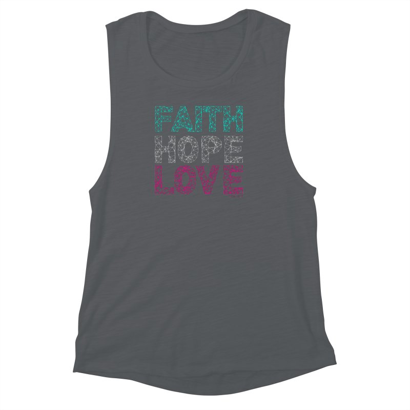 Faith Hope Love Women's Muscle Tank by Stand Forgiven ✝ Bible-inspired designer brand