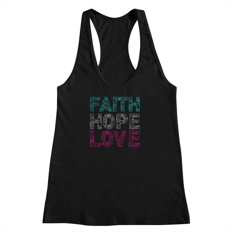 Faith Hope Love Women's Racerback Tank by Stand Forgiven ✝ Bible-inspired designer brand
