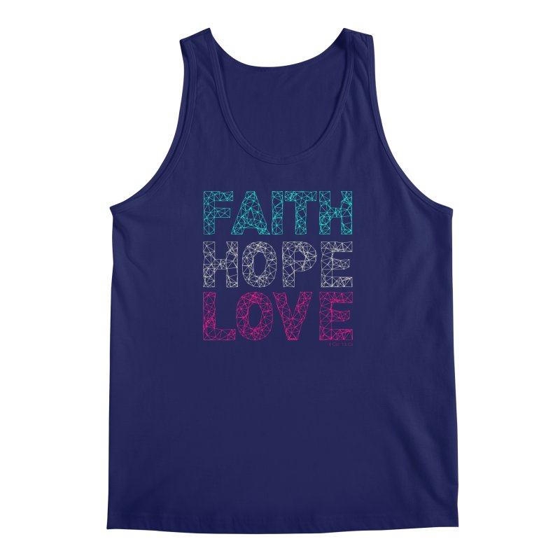 Faith Hope Love Men's Regular Tank by Stand Forgiven ✝ Bible-inspired designer brand