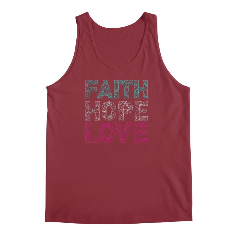 Faith Hope Love Men's Tank by Stand Forgiven ✝ Bible-inspired designer brand
