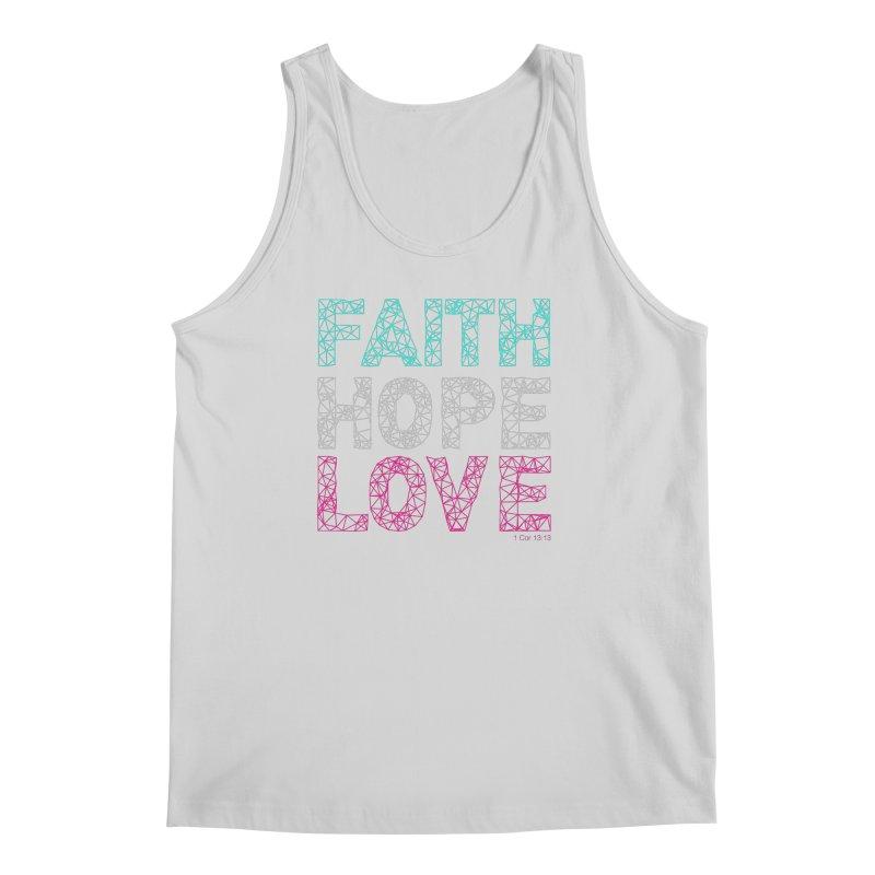 Faith Hope Love Men's Regular Tank by Stand Forgiven ✝ Bible-inspired designer brand